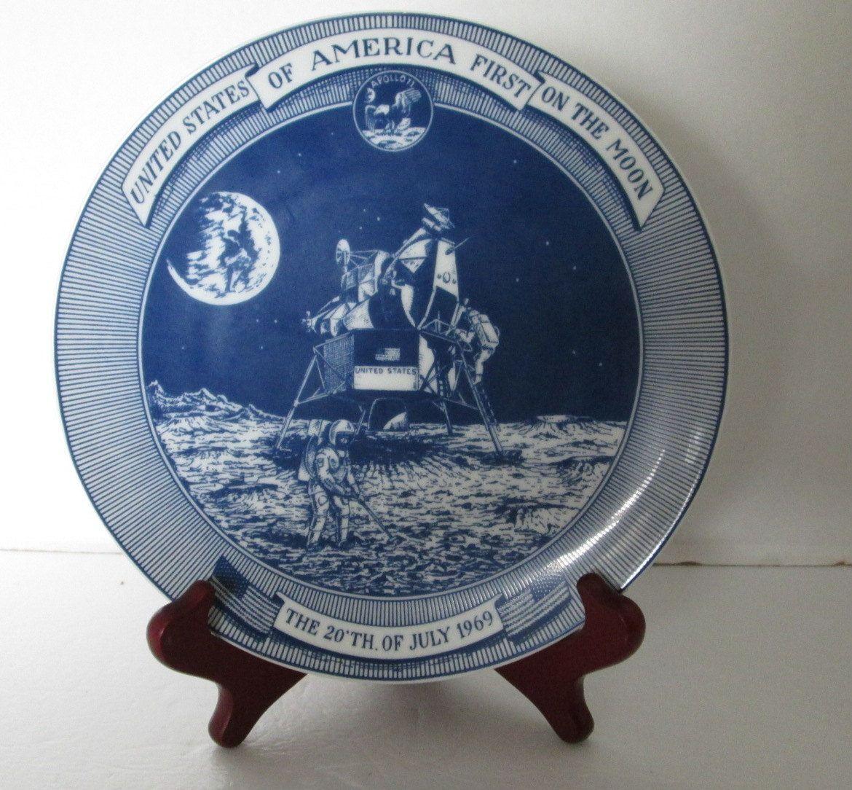 Royal Copenhagen Plate Moon Landing 1969 by RetroExchange on Etsy