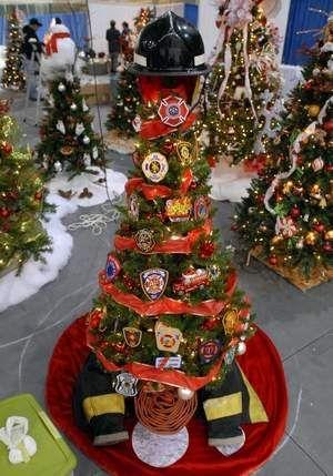 Firefighter Christmas Tree - Firefighter Christmas Tree Fireman :) Pinterest Christmas