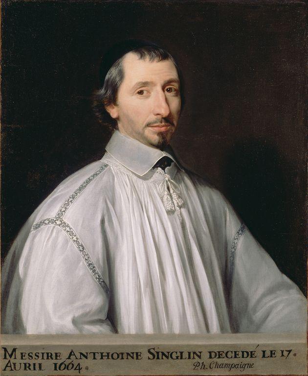 Antoine Singlin -- Philippe de Champaigne (French, born Belgium, 1602 - 1674) -- about 1646 -- Oil on canvas -- 79.1 x 65.1 cm (31 1/8 x 25 5/8 in.)