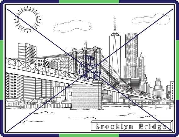 Download Brooklyn Bridge Coloring Page With Images Manhattan