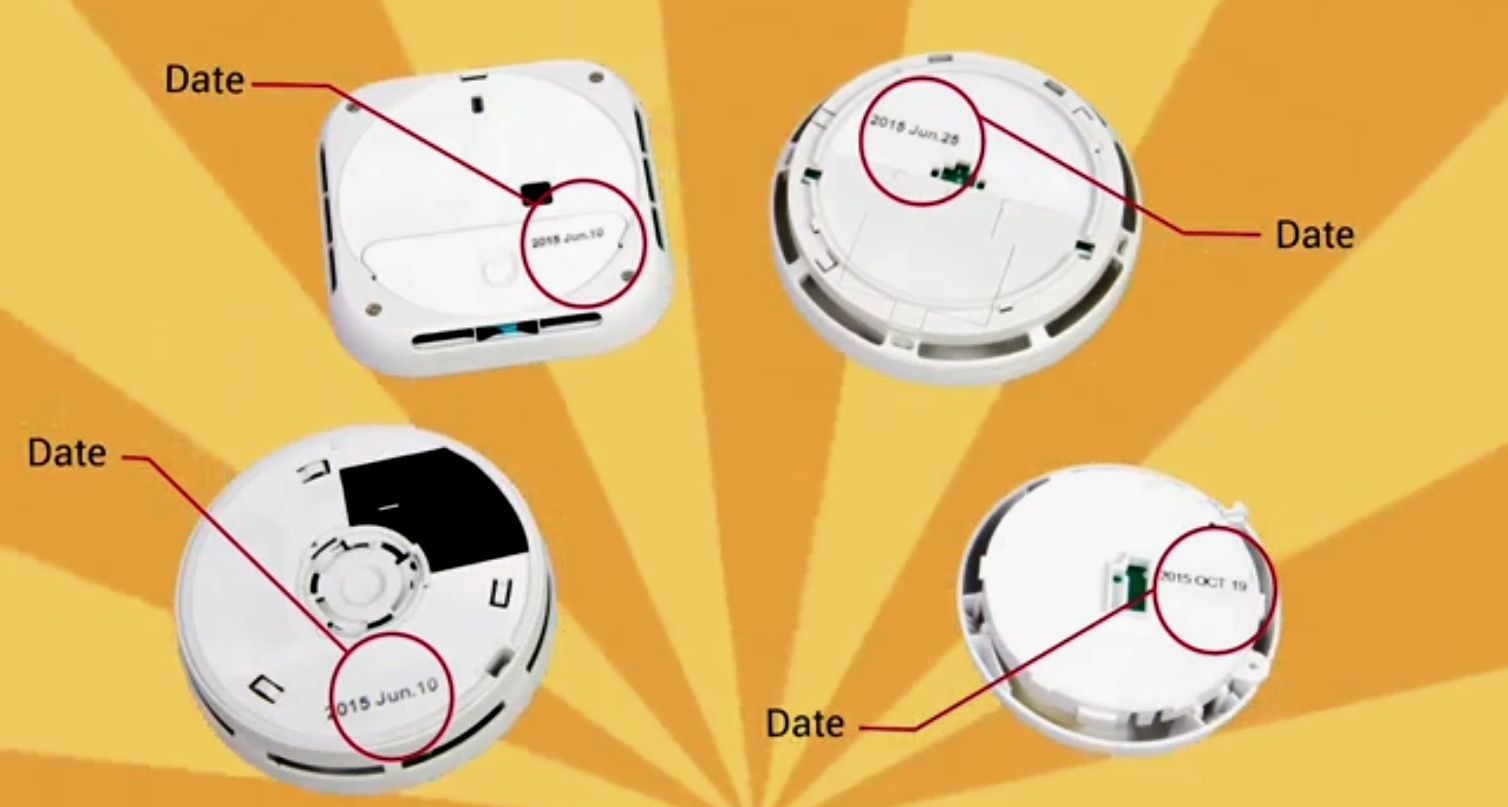 Don't Wait Check The Date. If your smoke detector is older