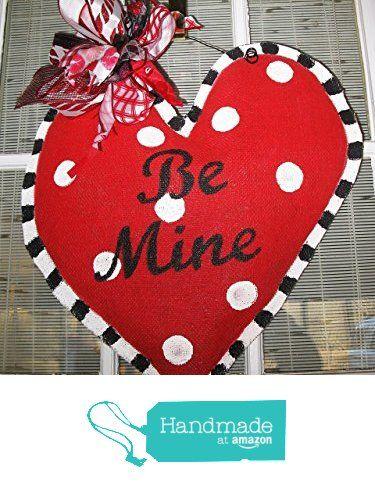 Valentine Heart Burlap Door Hanger Valentine S Day Wreath Red