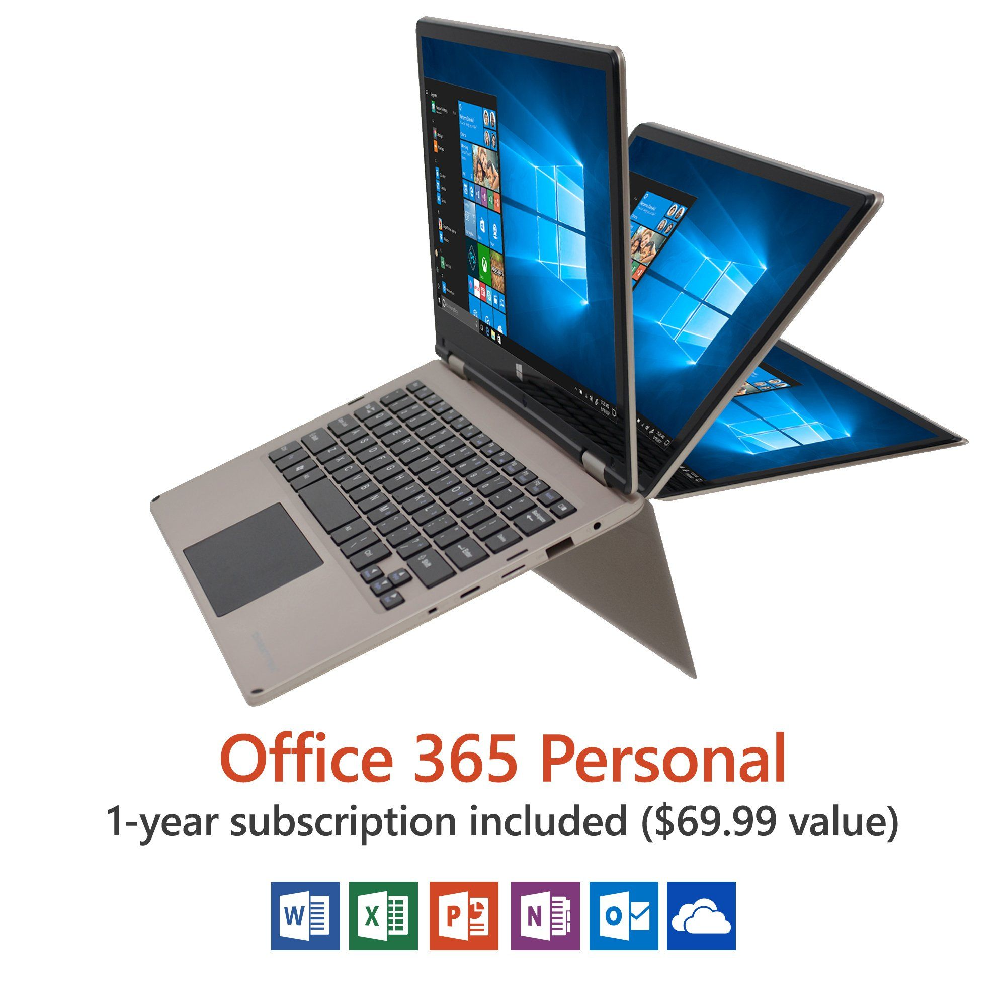 11 6 Convertible Touch Laptop Windows 10 Home Office 365 Personal