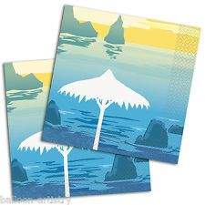 20 Tropical Luau Summer Paradise Party Disposable 33cm Paper Luncheon Napkins
