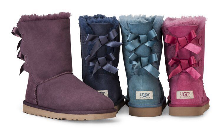 Baby Blue Ugg Boots With Bows