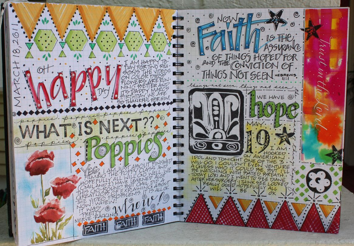 Love her Big Journal Page - Art du Jour by Martha Lever