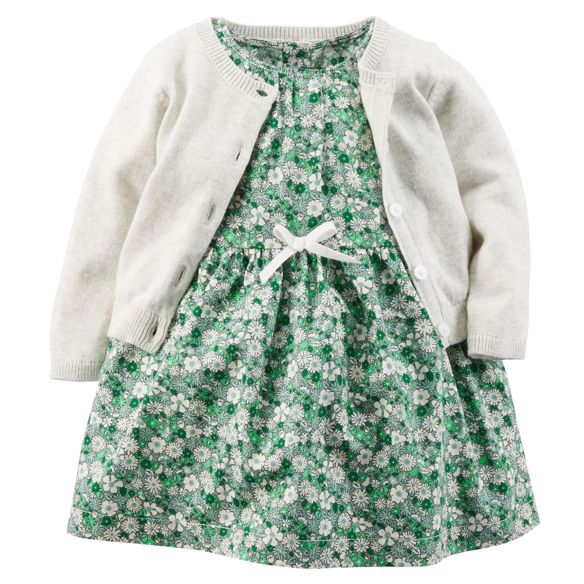 Piece printed woven dress u sweater set baby girls girls and