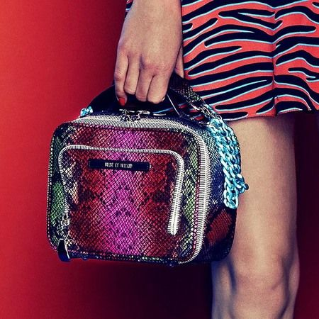 House Of Holland pink animal print mini bag. www.handbag.com