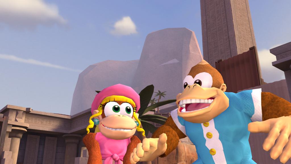 Dixie And Kiddy Donkey Kong Donkey Kong Country Marvel Cartoon Movies