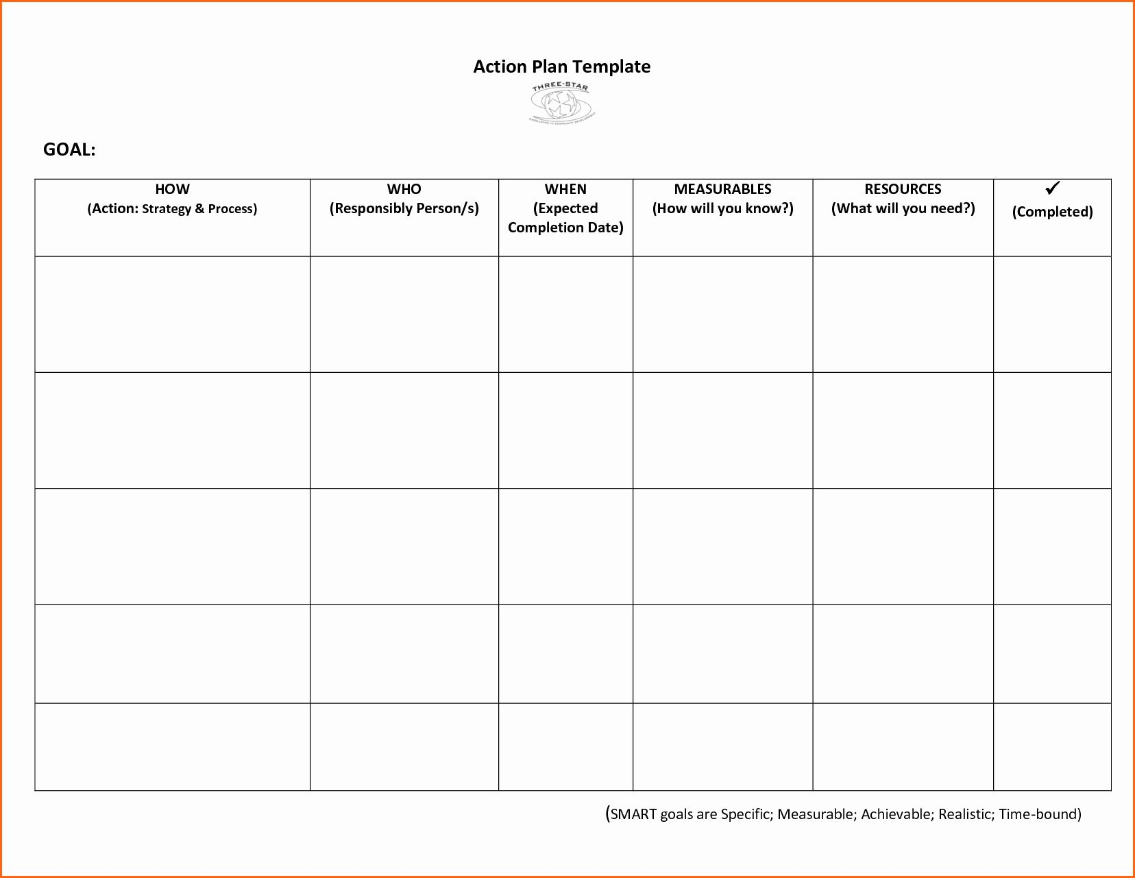 25 Smart Action Plans Template in 2020 (With images