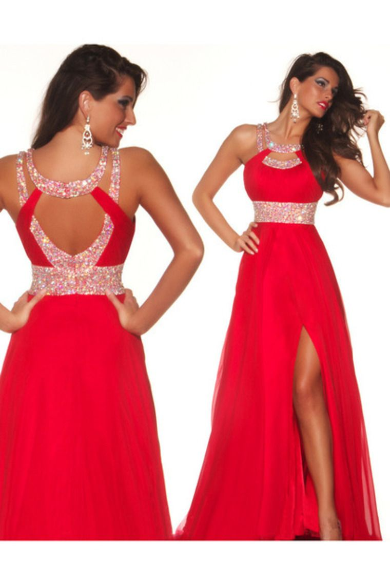 Long red formal dresses under 100