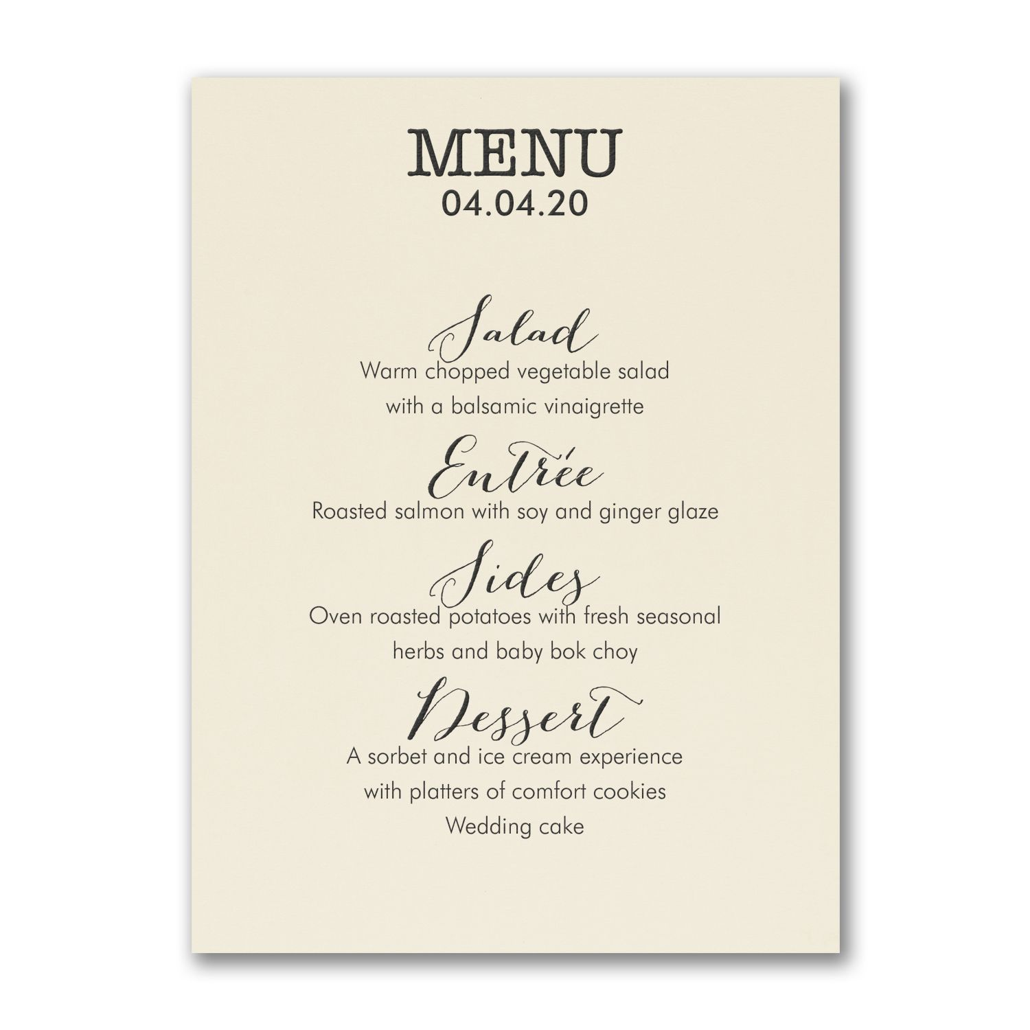 Cuisine Type Menu Card Ecru With Images Menu Cards Menu