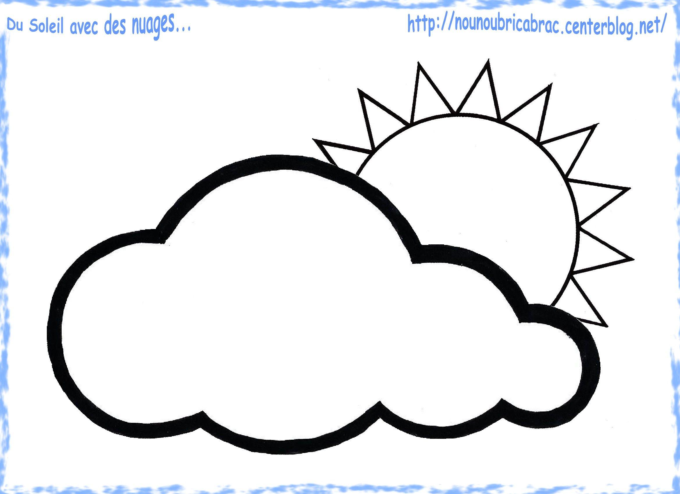 Coloriage Grenouille Meteo.Du Soleil Avec Un Nuage A Colorier Pour Notre Grenouille