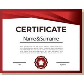 free vector red design certificate templates httpwwwcgvectorcom