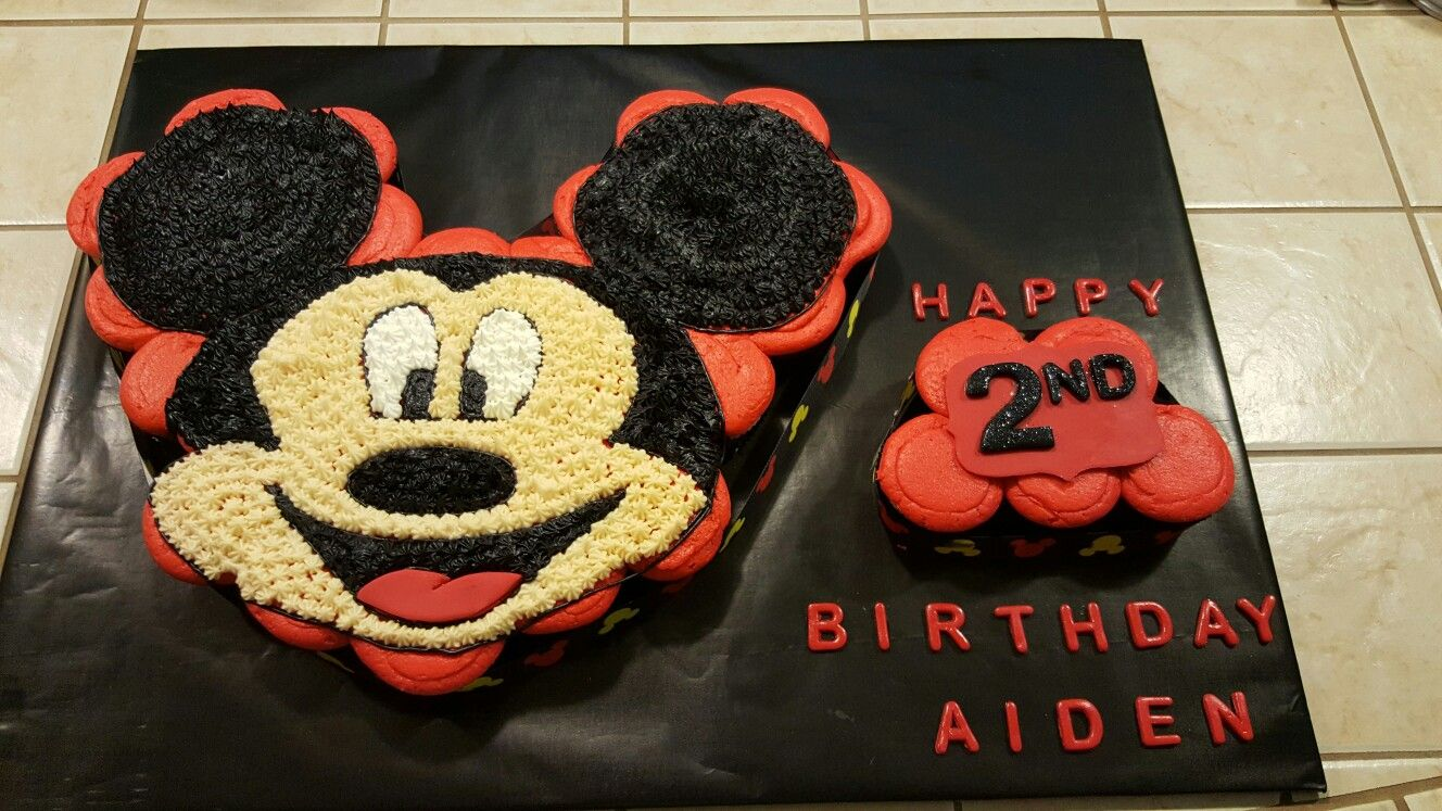 Stupendous Mickey Mouse Pull Apart Cupcake Mickey Mouse Cupcakes Mickey Birthday Cards Printable Riciscafe Filternl