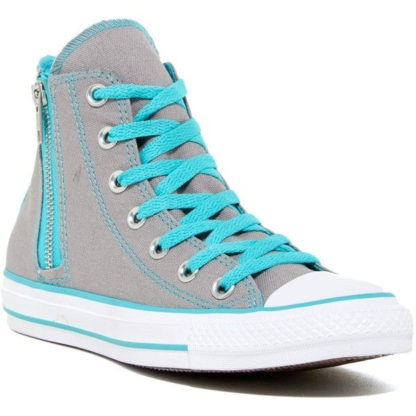 Converse Chuck Taylor Allstar Side Zip High-Top Sneaker (Women) ( 45) ❤  liked on Polyvore featuring shoes 02f81a989