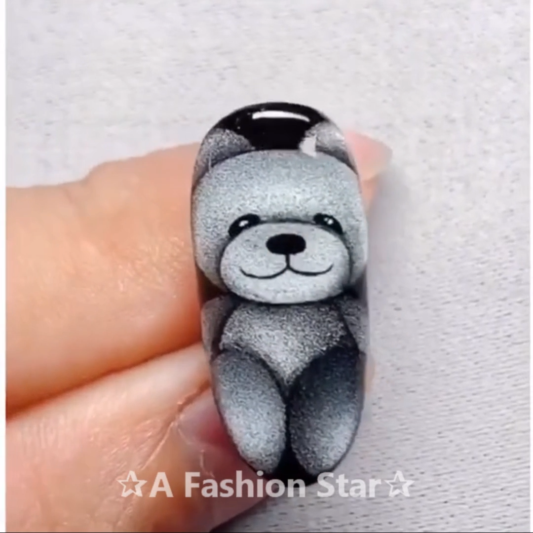Pretty Nail Art ✰A Fashion Star✰ #Nail Art #bears