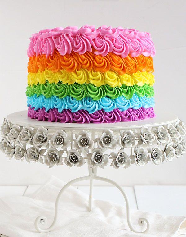 Rainbow Birthday Cake Cake More Cake Pinterest Birthday Cake