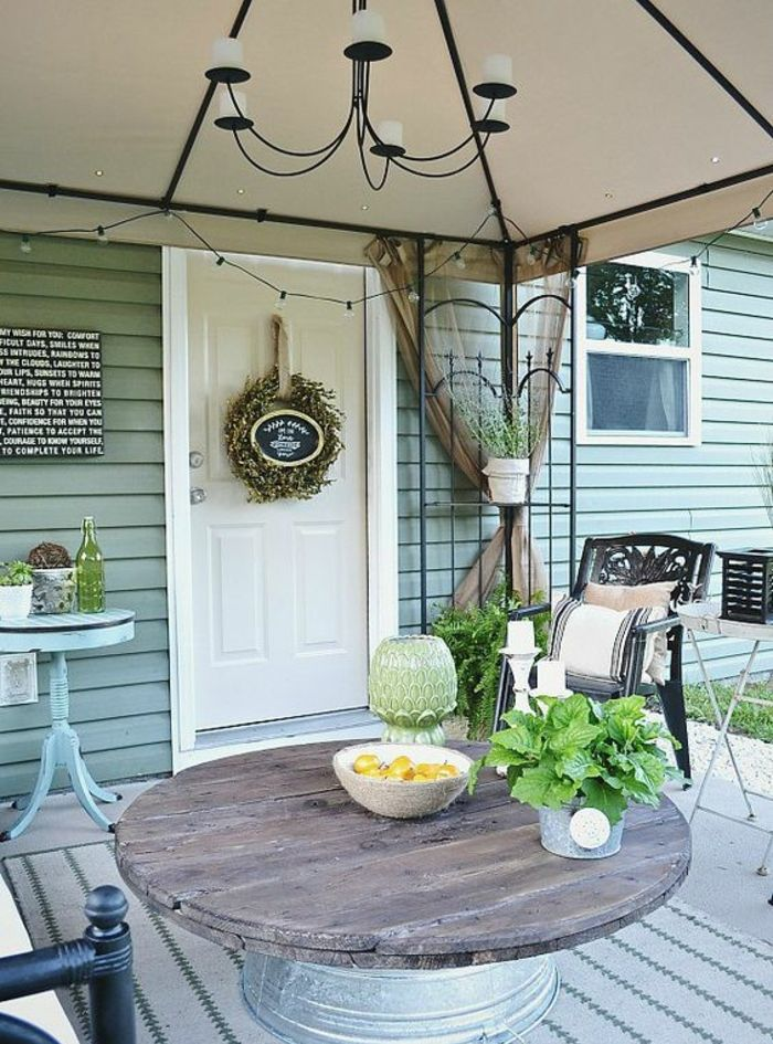 1001 id es astuces brico pour cr er une table en touret for Decoration terrasse restaurant