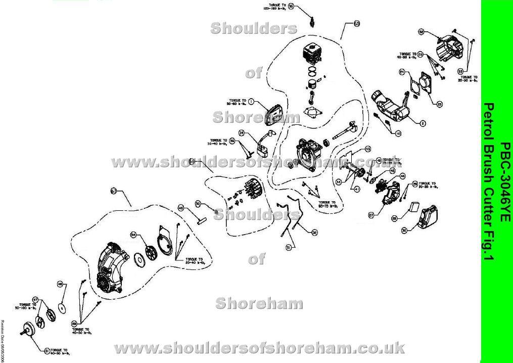 pbc3046ye ryobi trimmer brushcutter pinterest diagram and rh pinterest com Ryobi 990R Fuel Line Routing Fuel Line Tubing