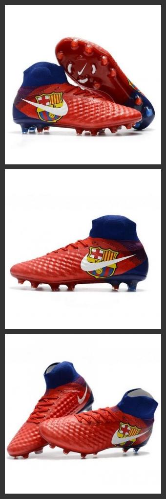 Scarpette da Calcio Nike Magista Obra 2 FG Barcelona Rosso