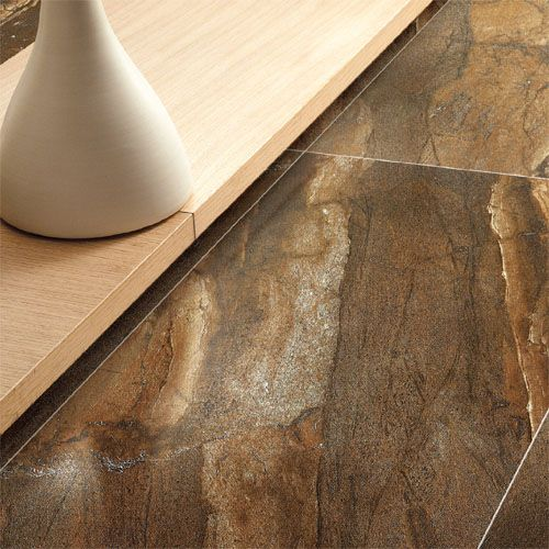 A Rich And Warm Toned Floor Tiles With Tobacco Coloured Granite