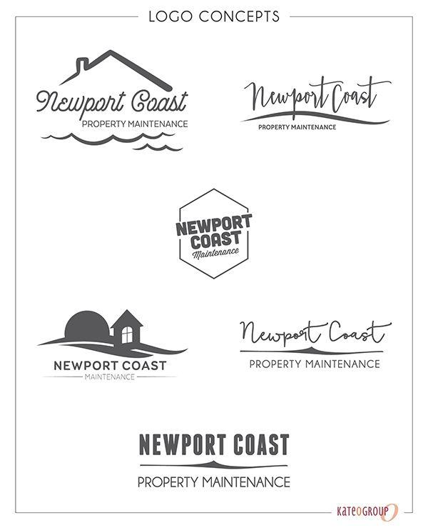 Newport Coast Property Management Management Logo Graphic Design Branding Logo Concept