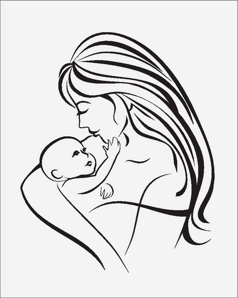 mama y bebe dibujo - Buscar con Google | Mamis y baby shower ...