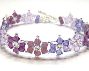 Amethyst flower bracelet floral bracelet by AquaStudioDesigns  9a763efb55bc
