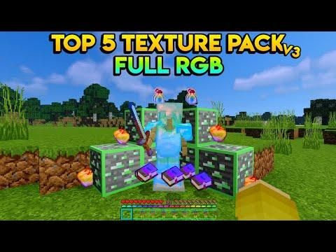 Top 5 Texture Pack Full Rgb Di Mcpe V 1 14 1 16 Minecraft Pe Be Win10 Texture Packs Minecraft Texture