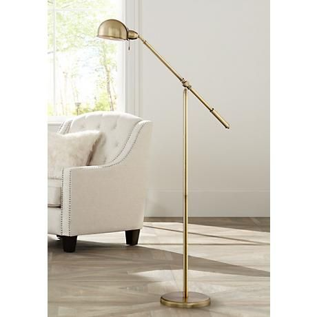 Dawson Antique Brass Pharmacy Floor Lamp 1k787 Lamps Plus