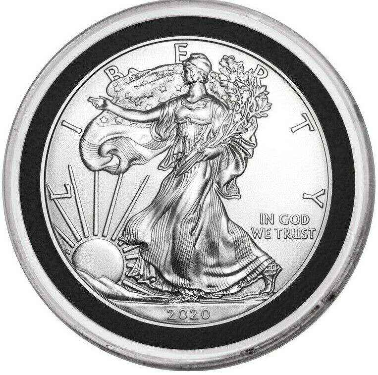 2020 American Silver Eagle 1 Oz Gem Bu Coin From Us Mint Roll With Capsule In 2020 American Silver Eagle Silver Coins For Sale Silver Eagles