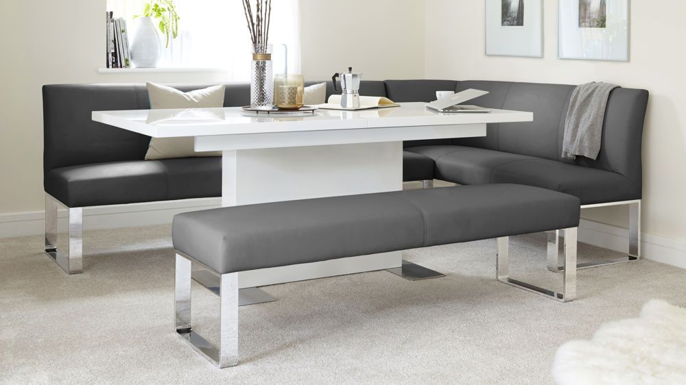 Loop 7 Seater Left Hand Corner Bench In 2020 Corner Bench Dining