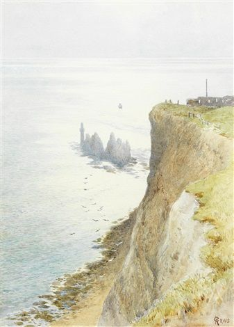 Westward from the Needles - Charles Robertson (England, 1844-1891) (Impressionism)