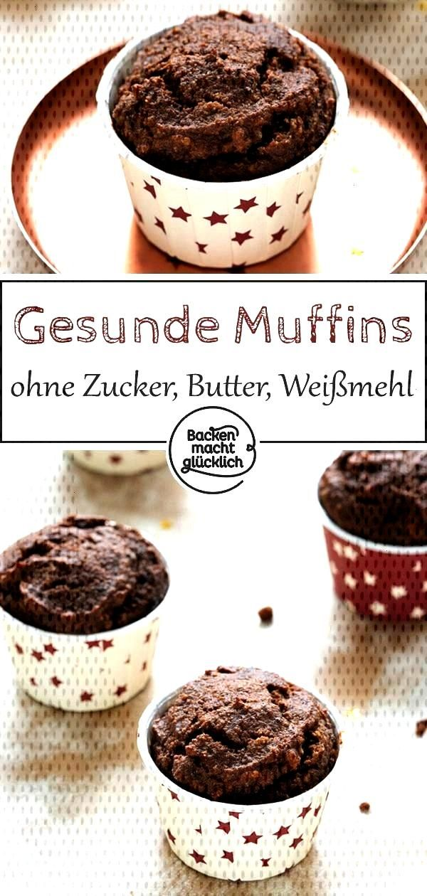 Chocolate Muffins Without Sugar Baking makes you happy - Healthy chocolate muffins without sugar,