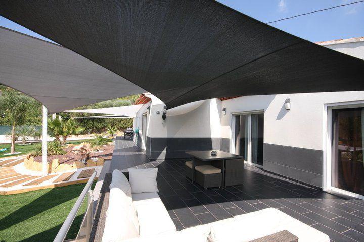 voiles d\u0027ombrage sur mesures Roof idea Pinterest Toile - toile tendue pour terrasse