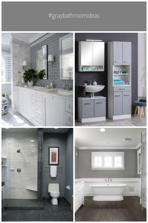 Graybathroomideas In 2020 Simple Bathroom Basement Colors Basement Remodeling