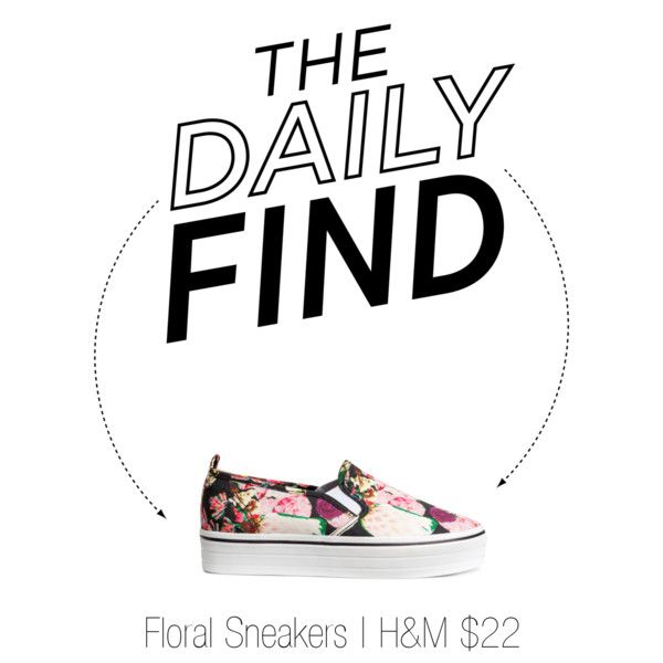 The Daily Find | Floral Sneakers #SoCityChic