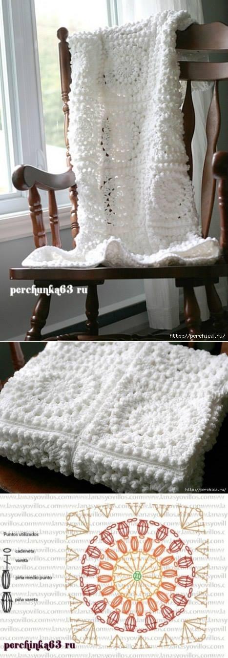 La manta por el cuadrado afgano | Crochet | Pinterest | Cuadrados ...