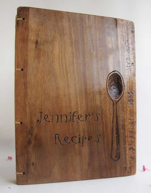 Personalized recipe book Reclaimed wood Hand made engraving by Lacuna work | Flickr - Photo Sharing!