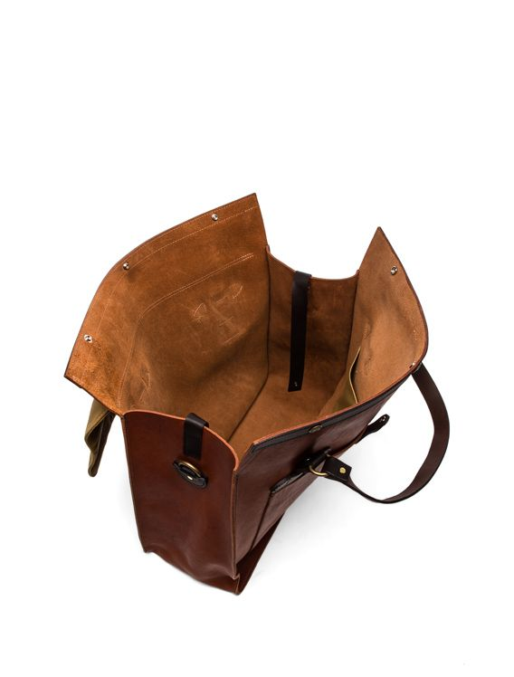 Filson Large Leather Tote in Cognac from Revolve.com