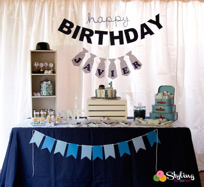 Little Man Themed Birthday Party Little Man Birthday Party Ideas Birthday Party Themes Little Man Party