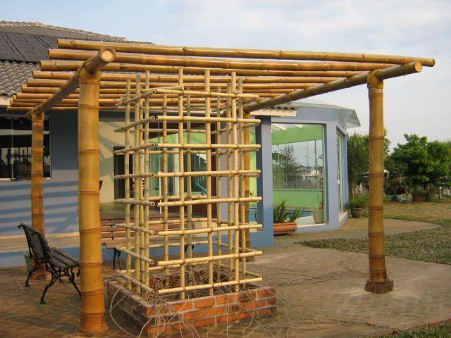 Pin de mayrita en decoracion bamb p rgolas y cerca de bamb - Pergolas de bambu ...