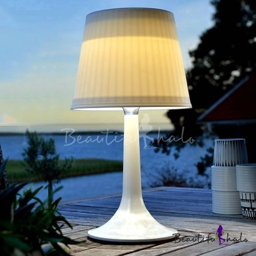 Graceful 14 H Solar Powered Led Wireless Outdoor Indoor Portable Table Lamp Outdoor Table Lamps Table Lamp Black Table Lamps