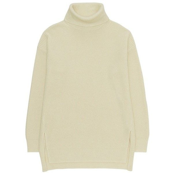 UNIQLO Oversized Turtle Neck Tunic ( 33) ❤ liked on Polyvore featuring tops 016481de9