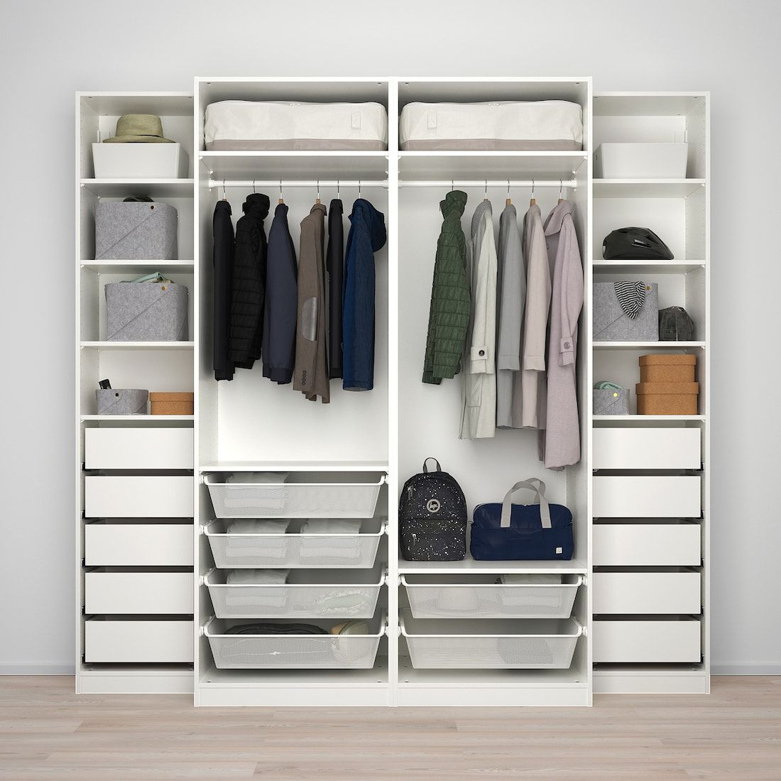 Pax Wardrobe White Mehamn 98 3 8x26x93 1 8 Ikea Pax Wardrobe Ikea Pax Bedroom Built In Wardrobe
