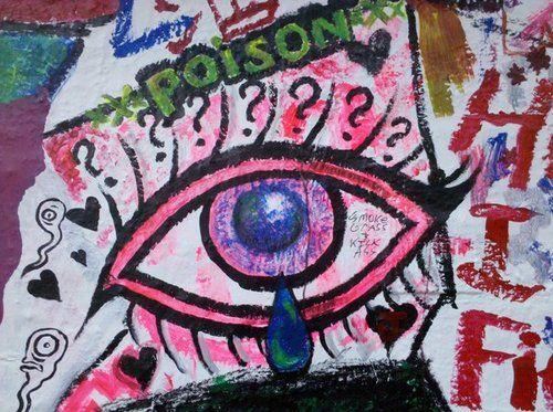 Eye found outside Mars Bar in NYC.