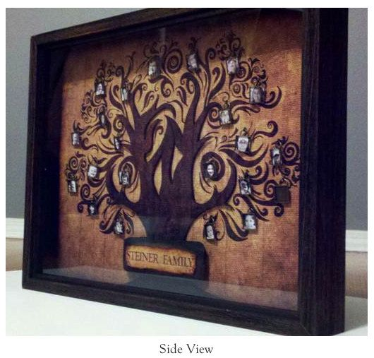 3d Family Tree Shadow Box A Personalized Family Tree That