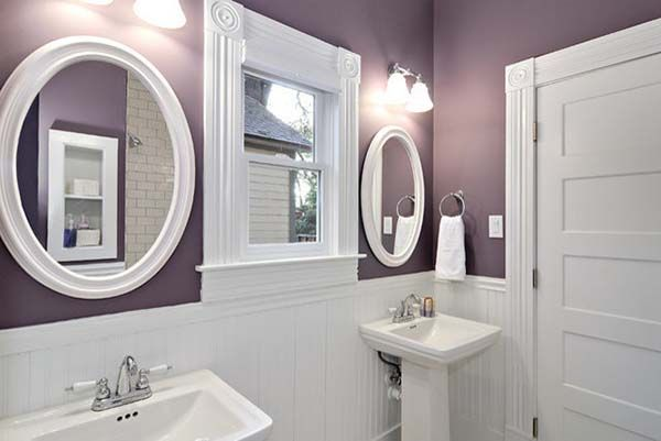 35 Best Purple Bathroom Ideas #whitebathroompaint
