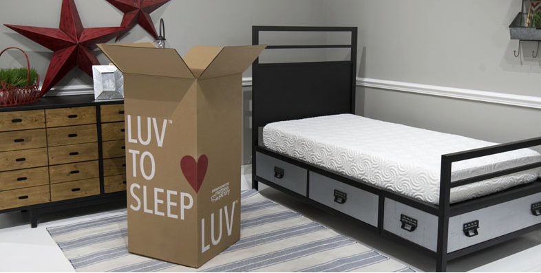 The Luv Mattresses Luv To Sleep Bed In A Box Box Bed Bed Furniture